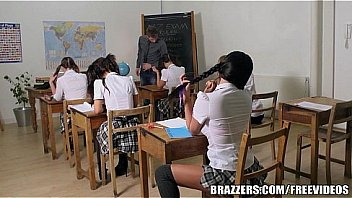 Student massage sexy lady in school